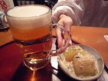 生ビールと冬瓜