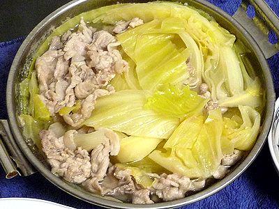 豚肉とキャベツのひとり鍋