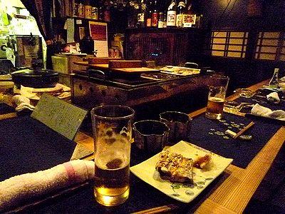 太刀魚塩焼きと生ビール