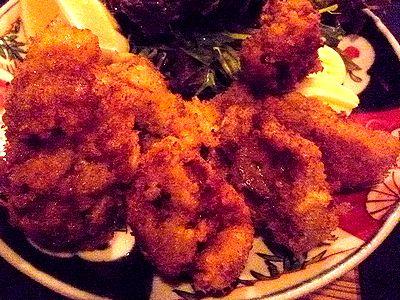 天然牡蠣のカキフライ