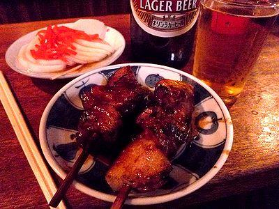 カシラ、大根、ビール