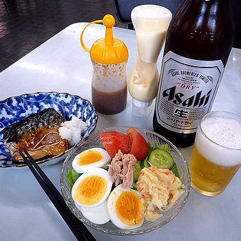 朝からビール