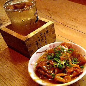冷酒と味噌煮