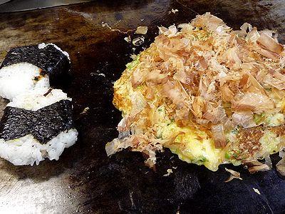 「のぶ」トロロ焼きと焼きむすび