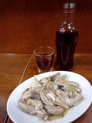 チート生姜炒めと紹興酒W
