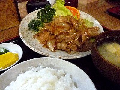 豚生姜焼き+ライスセット
