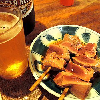 ビール大とハツ生お酢