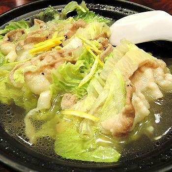 豚肉と白菜の味わい鍋