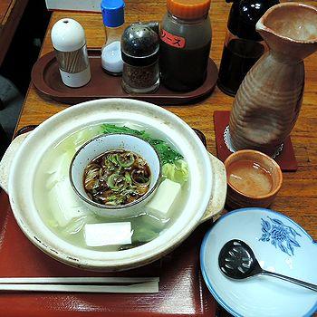 湯豆腐と燗酒