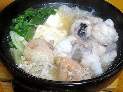 あんこう鍋(750円)
