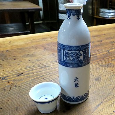 「賀茂鶴」樽酒(燗)