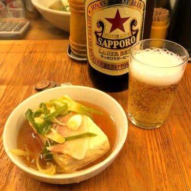 肉豆腐でビール