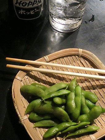 枝豆でホッピー