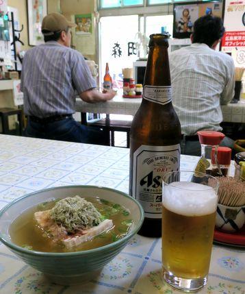 湯豆腐でビール