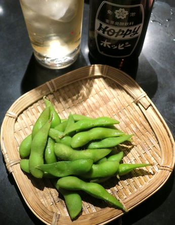 枝豆&ホッピー