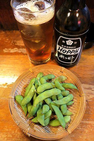 黒ホッピー&枝豆