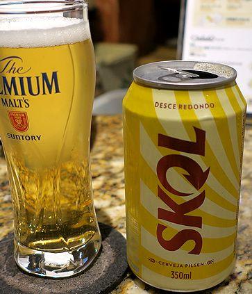 ブラジルビール「SKOL」