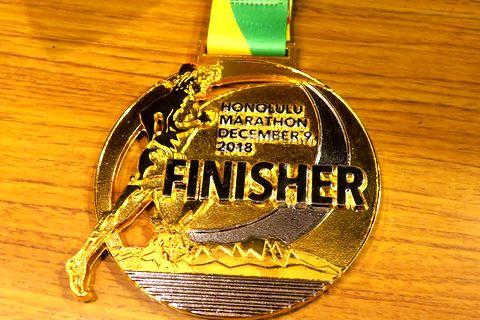 完走のメダル