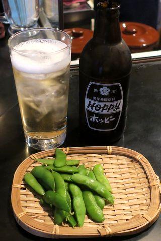 ホッピー&枝豆