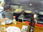 フライヤーと煮込み鍋