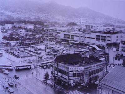 昭和56年の呉駅周辺