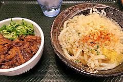牛肉ごはん&かけうどん(小)