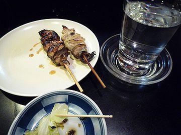 串巻きと日本酒
