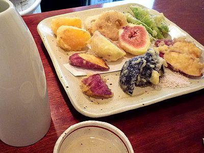 十月の天ぷらと「奥播磨」