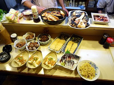 「竹よし」納会料理の一部