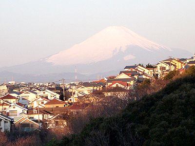 寮から見える富士山