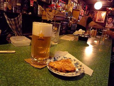 生ビールとカワハギ