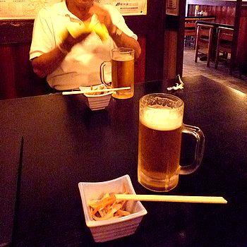 昼間に美味い生ビール