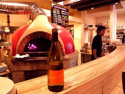 窯焼き料理で白ワイン