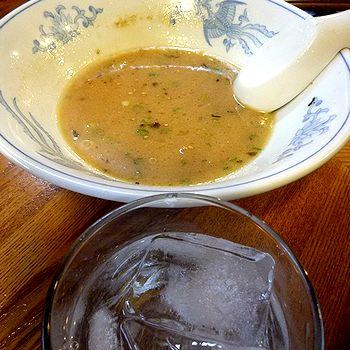 残ったスープで芋焼酎