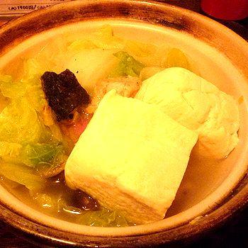 うなぎ短冊入り湯豆腐