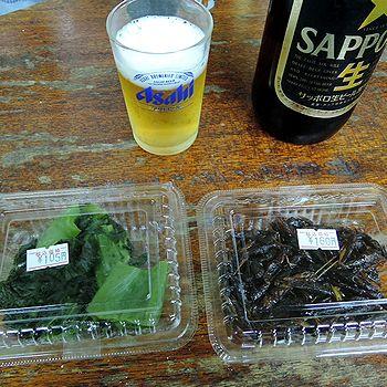 パック惣菜でビール