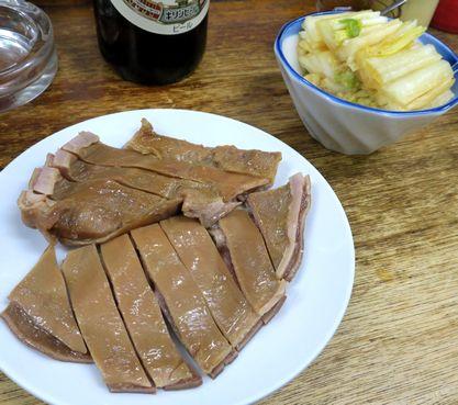猪肚と辣白菜