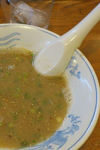 スープをつまみに焼酎