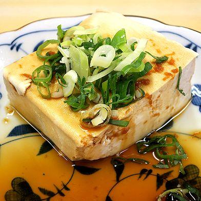 豆腐をショウガ醤油で