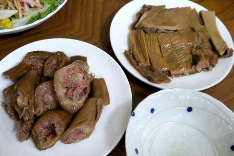 豚の尾、豚の胃
