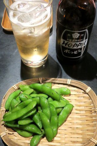 ホッピーと枝豆